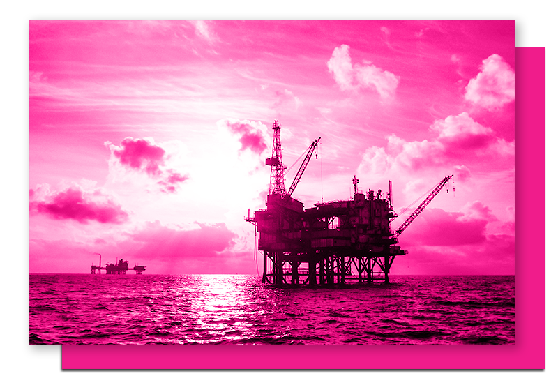An offshore oil and gas work site, where having an IADC RigPass® certification can keep employees safe and your company compliant.
