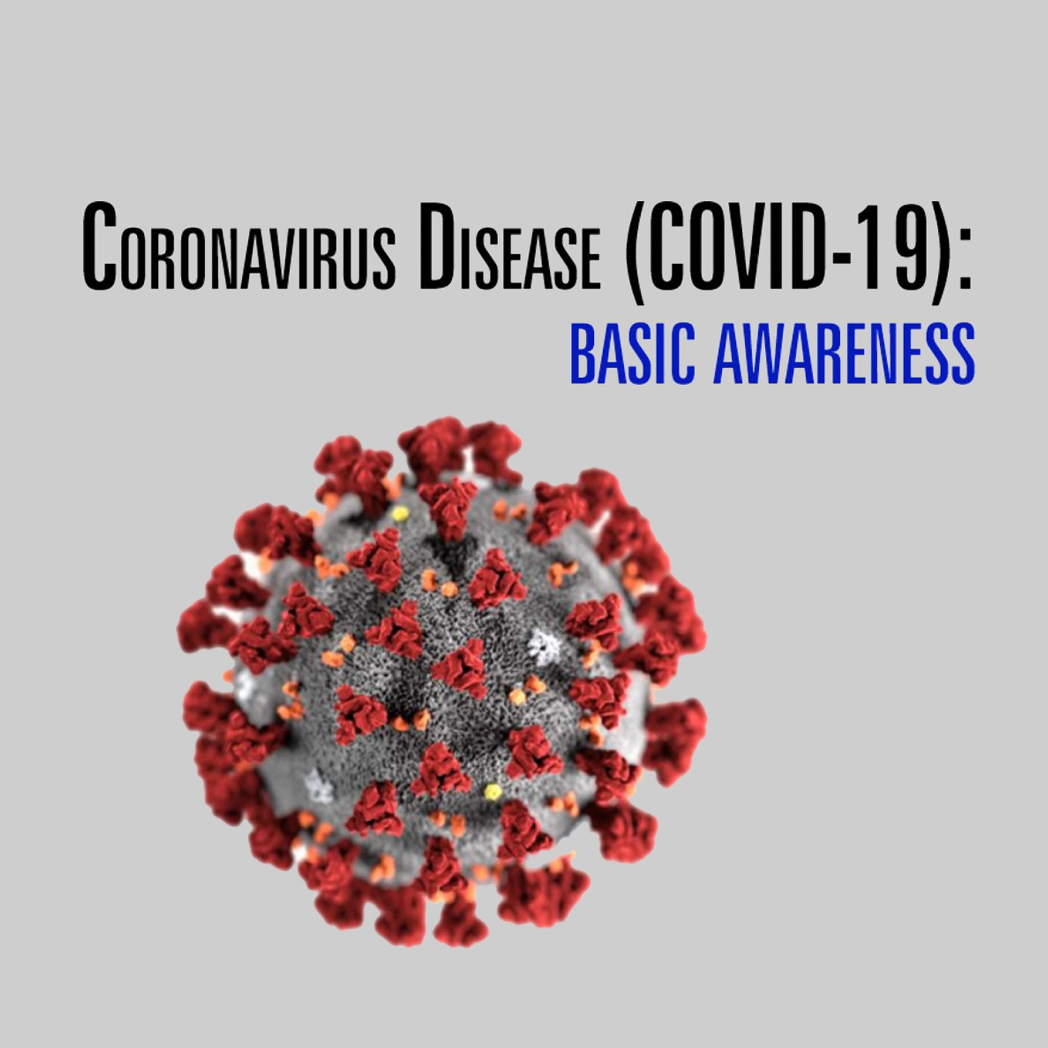 The cover image of our Coronavirus Disease (COVID-19) Basic Awareness course, just one of three free online coronavirus training courses for employees we're offering free.